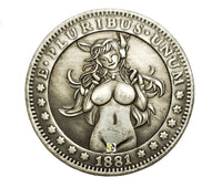 Sexy Anime Elf Girl Novelty Coin