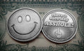 Smiley Face Have a Nice Day Asshole - Novelty Coin