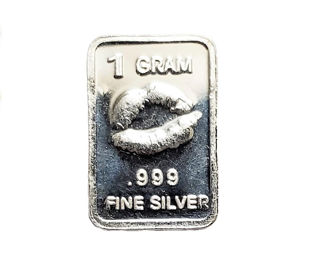 1 Gram .999 Fine Silver Bar - Kissing Lips