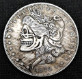 Stylized Skull 1878 Morgan Silver Dollar Replica