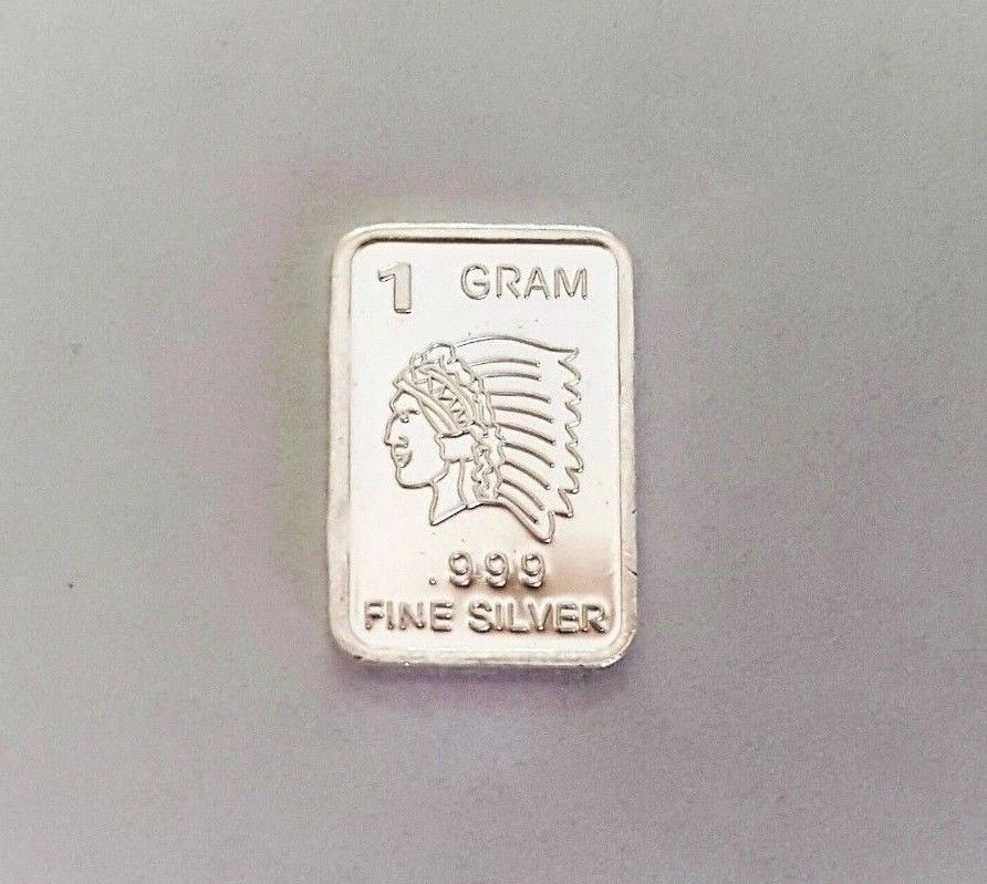 1 Gram .999 Fine Silver Bar - Chief