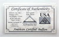 5 Grain .999 Fine Silver Bullion Pyramid Bar