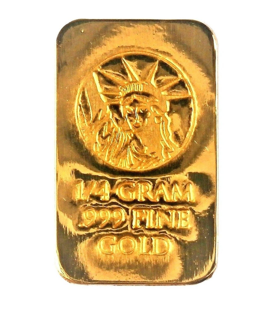 1/4 Gram .999 Fine 24k Gold Bullion Bar