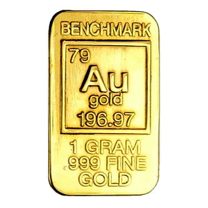 1 Gram .999 Fine 24k Gold Bullion Bar - In COA Card