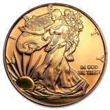 1 Ounce .999 Fine Copper Round - Walking Liberty