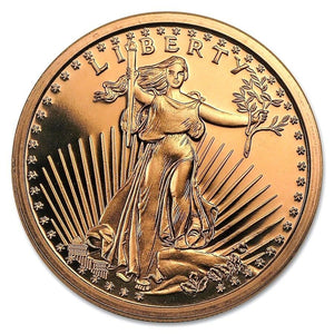1 Ounce .999 Fine Copper Round - Saint-Gaudens