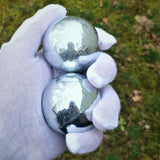 Two Zinc Heath/Stress Balls - .9999 Fine ( 99.99% Pure ) Zinc Spheres