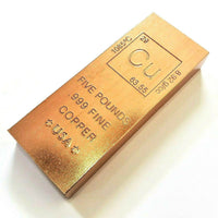 5 Pound .999 Fine Copper Bullion Bar