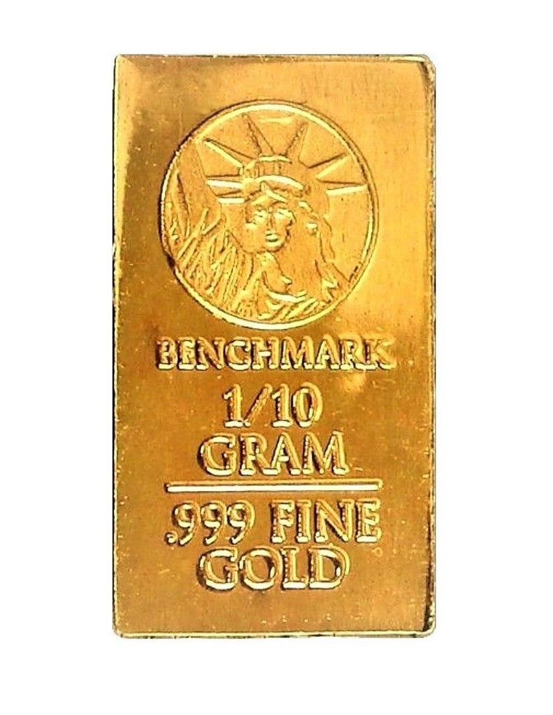 1/10 Gram .9999 Fine 24k Gold Bullion Bar
