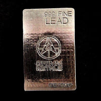 1 Pound .999 Fine Lead Bullion Bar