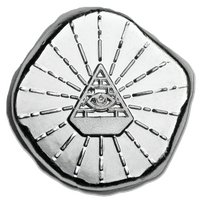 1/2 Troy Ounce .999 Fine Silver Bullion Round - All Seeing Eye
