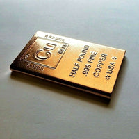 Half Pound .999 Fine Copper Bullion Bar