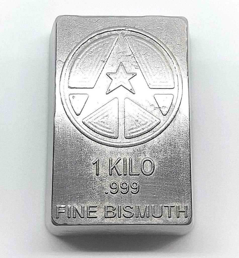 1 Kilo .999 Fine Bismuth Bullion Bar