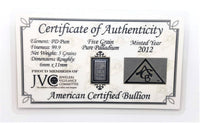 5 Grain .999 Fine Palladium Bullion Bar