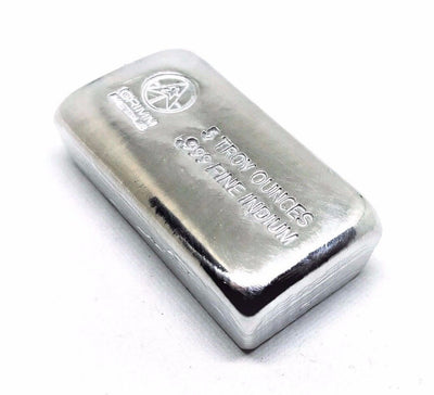 5 Troy Ounce .999 Fine Indium Bullion Bar
