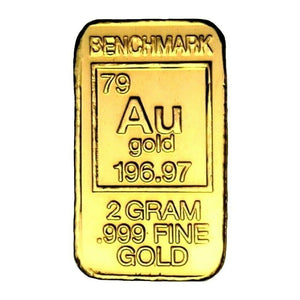 2 Gram .999 Fine 24k Gold Bullion Bar - In COA Card