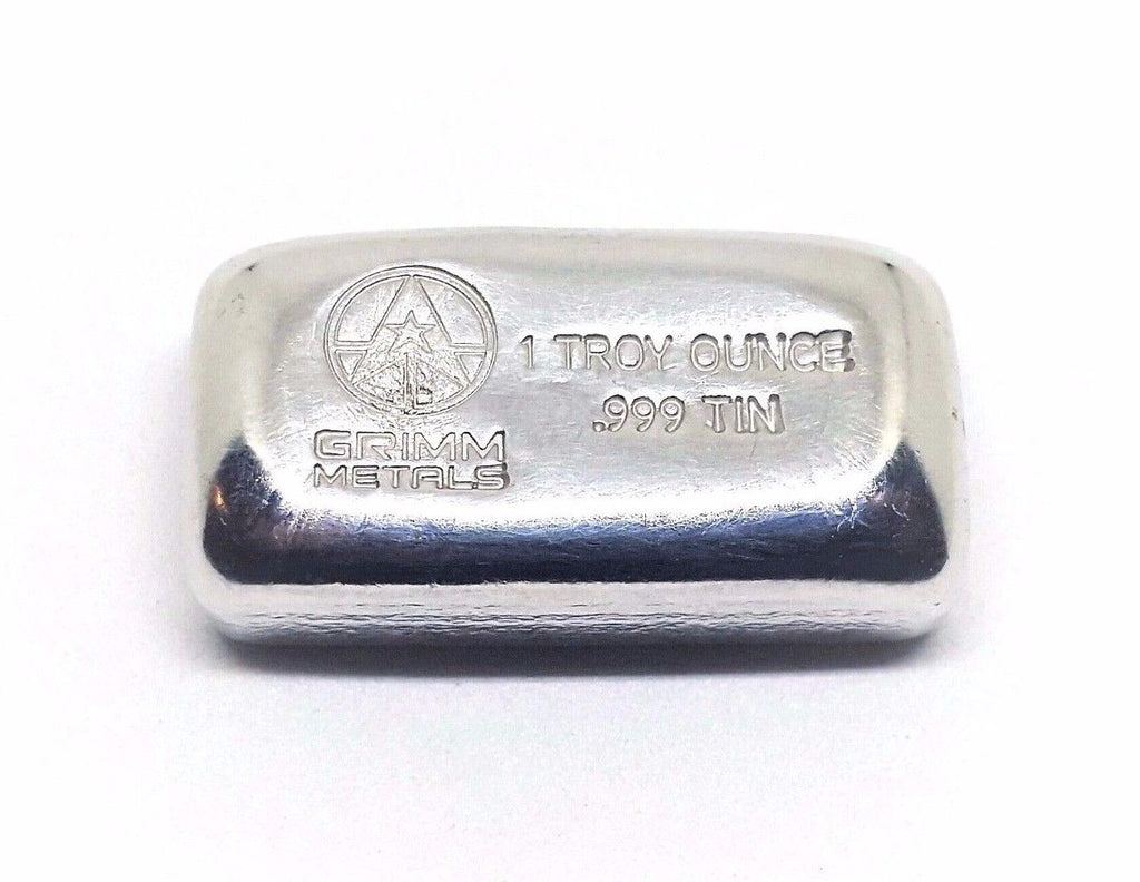 1 Troy Ounce .999 Fine Tin Bullion Bar