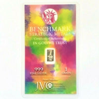 Tie Dye Style - 1 Grain .999 Fine Silver Bullion Bar - In COA Card