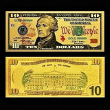 $10 Gold Foiled Novelty Federal Reserve Note