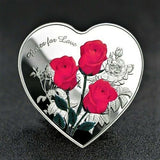 """Roses For Love"" Gift Coin - With Protective Capsule"
