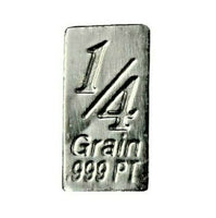1/4 Grain .999 Fine Platinum Bullion Bar