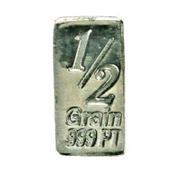 1/2 Grain .999 Fine Platinum Bullion Bar