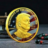 Colorized and Gold Plated Donald Trump Make America Great Again Souvenir Coin