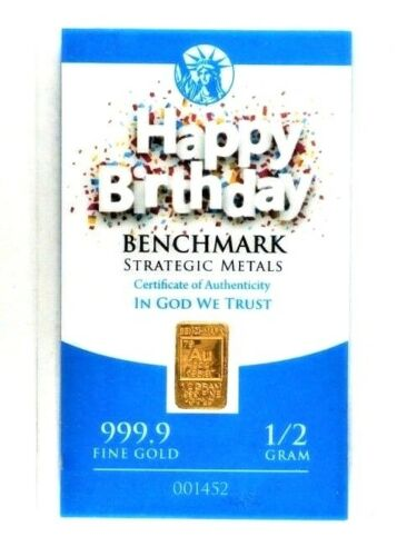 Happy Birthday! - 1/2 Gram .999 Fine 24k Gold Bullion Bar