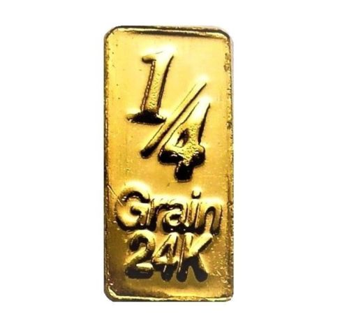 1/4 Grain .9999 Fine 24K Gold Bar