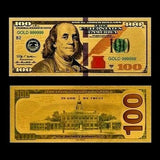 $100 Gold Foiled Novelty Federal Reserve Note
