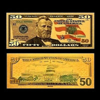 $50 Gold Foiled Novelty Federal Reserve Note