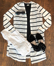 Black and White Striped Summer Cardigan