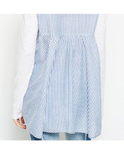 Blue and White Striped Back Top