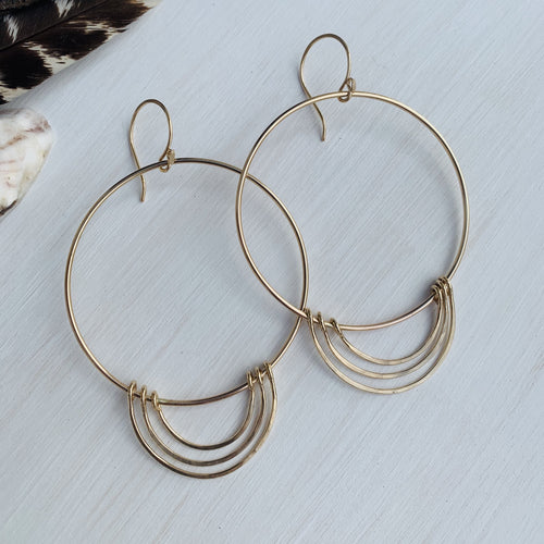 Goldie Halo Charm Hoops