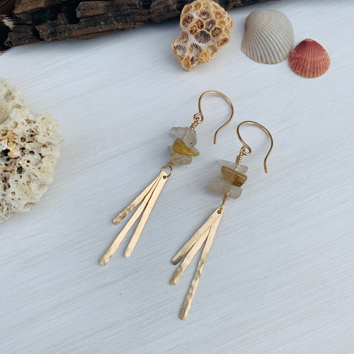 Rutilated Quartz Aarush Dangles