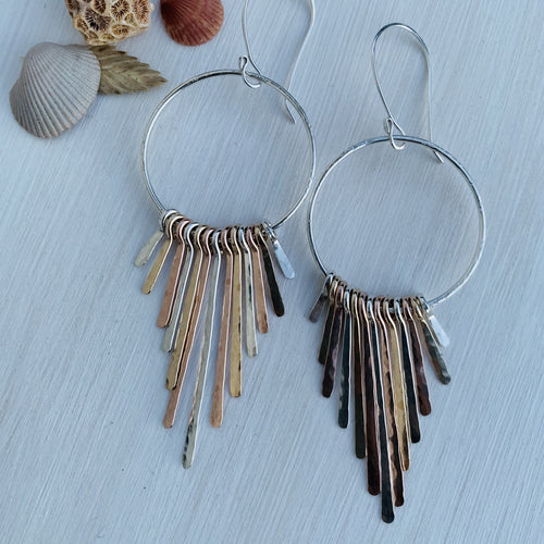 Multi Metal Fringe Benefits Hoops