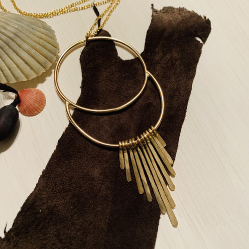 Goldie Total Eclipse Fringe Necklace