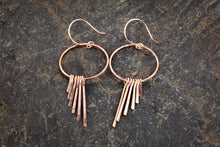 Gold Angel Fringe Earrings