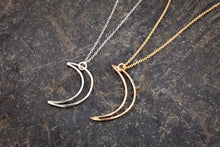 Sterling Crescent Moon Charm Necklace
