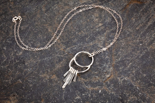 Baby Eclipse Fringe Charm Necklace