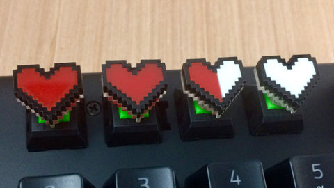 8-Bit Life Bar - Cherry MX Keycap