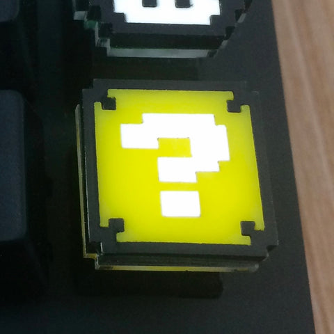 8-Bit Question Block - Cherry MX Keycap