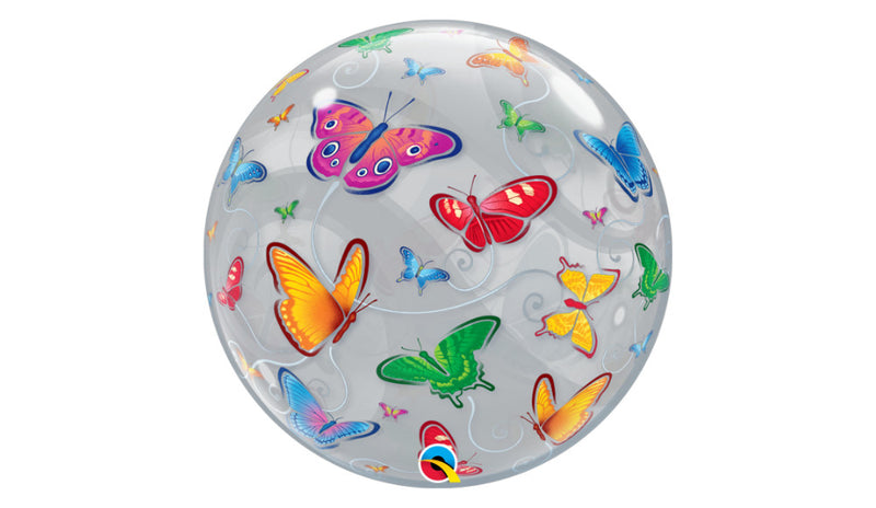 "Butterflies 22"" Bubble - Balloon Express"