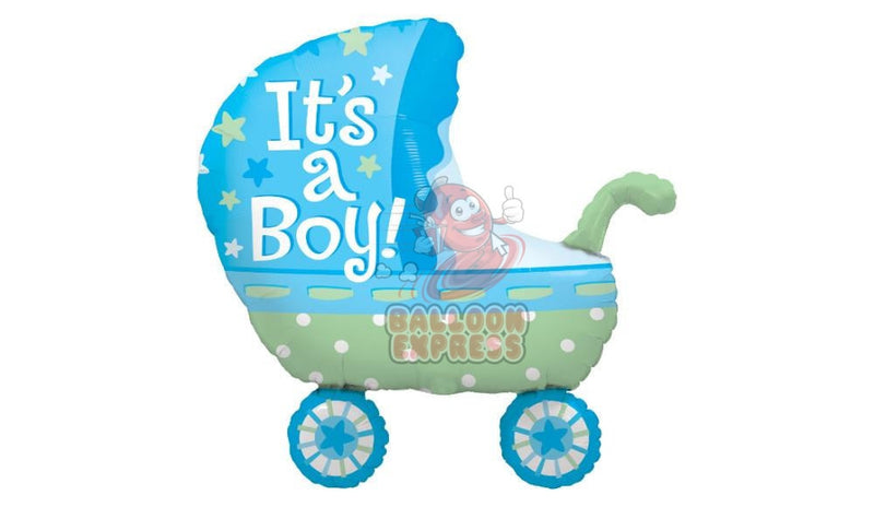 """It's A Boy"" Baby Stroller - Balloon Express"