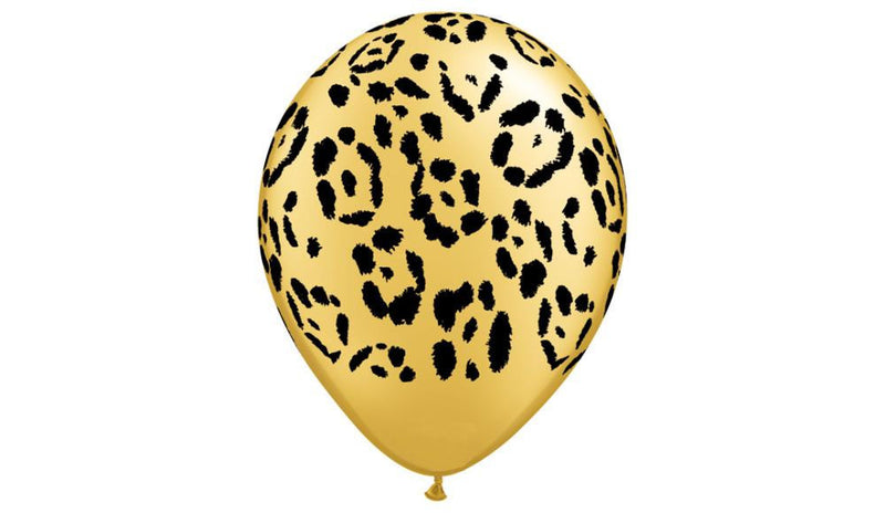 "11"" Leopard print-Helium Inflated - Balloon Express"