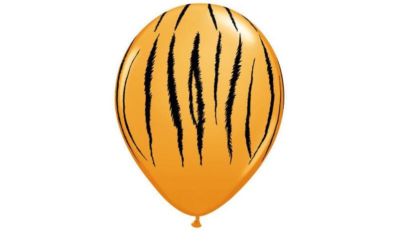 "11"" Tiger print-Helium Inflated - Balloon Express"