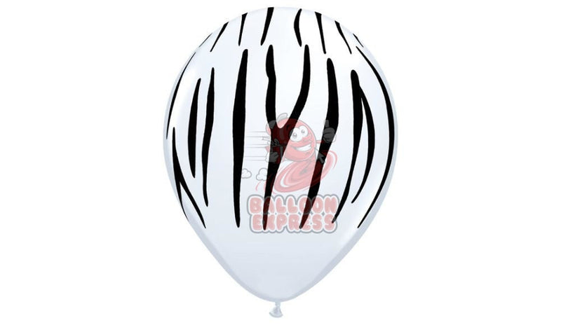 Zebra print-Helium Inflated - Balloon Express