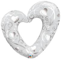 "42"" Hearts & Filigree - Balloon Express"