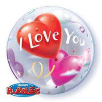 "22"" Bubble I love you heart - Balloon Express"