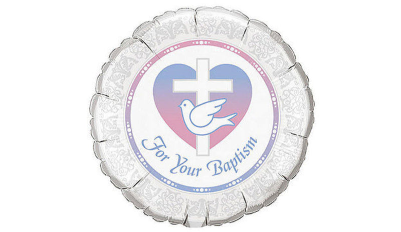 "18""  Baptism with Dove - Balloon Express"